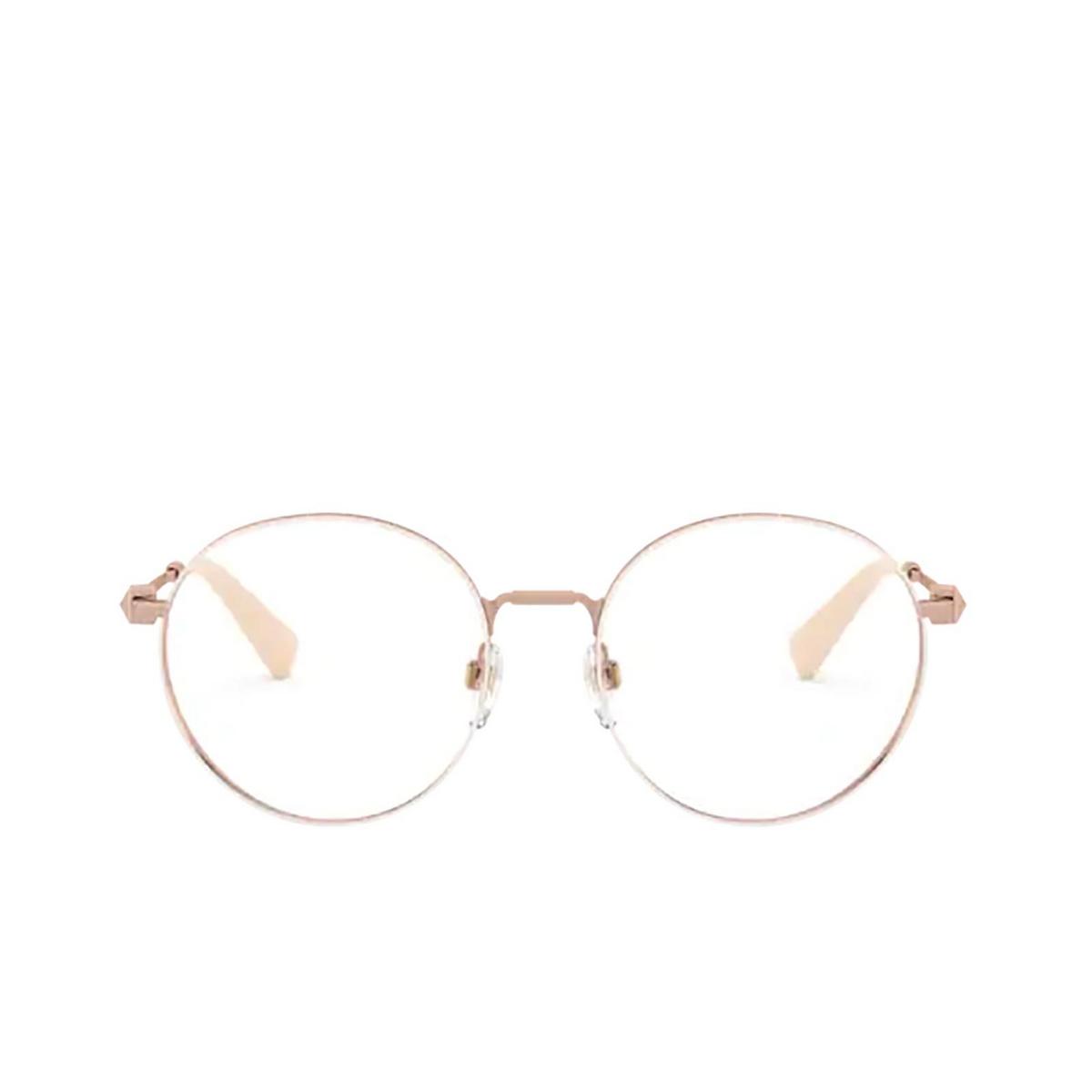 Valentino® Round Eyeglasses: VA1020 color Rose Gold / Beige 3013 - front view.