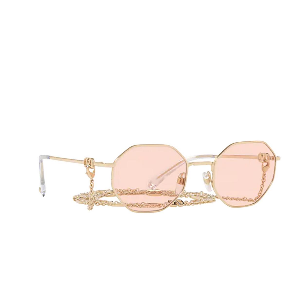 Valentino® Irregular Sunglasses: VA2040 color Pale Gold 3003/5.