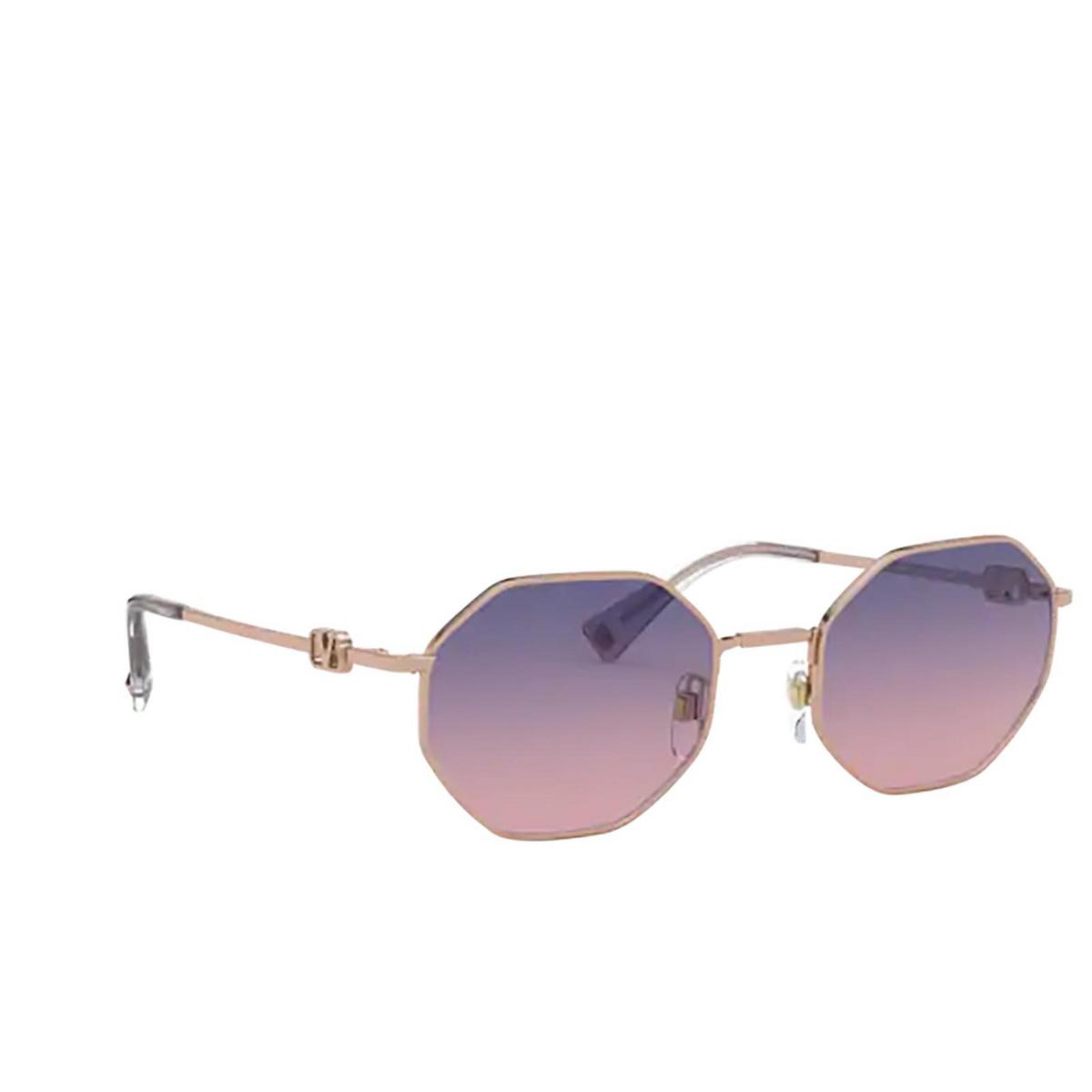 Valentino® Irregular Sunglasses: VA2040 color Rose Gold 3004I6.