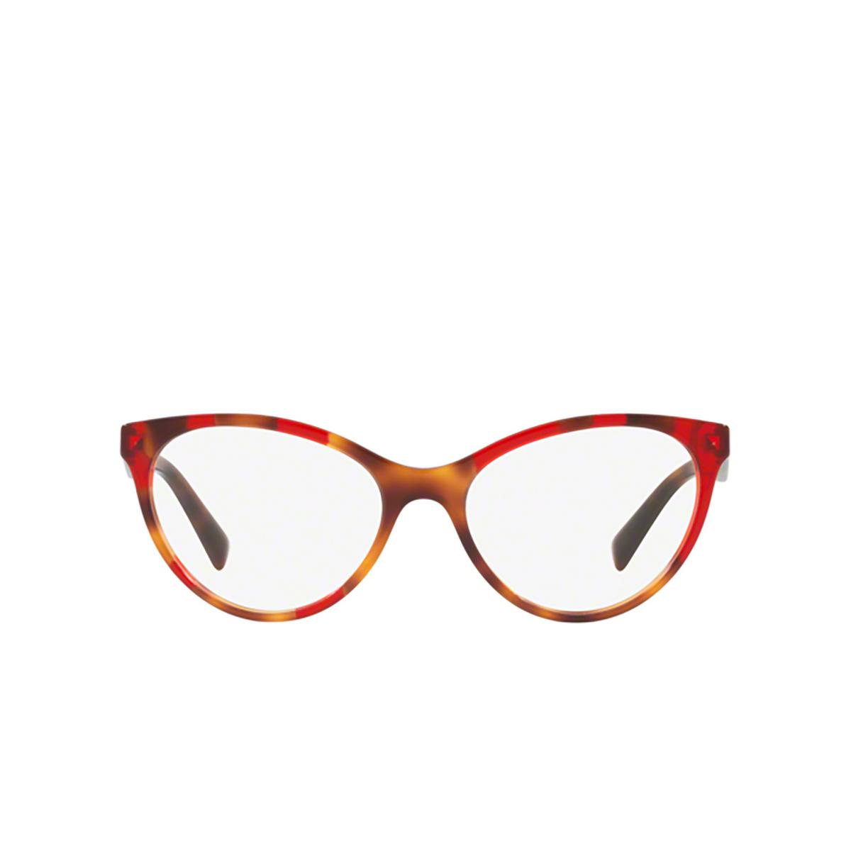 Valentino® Cat-eye Eyeglasses: VA3013 color Havana Inserts Opal Red 5058 - front view.