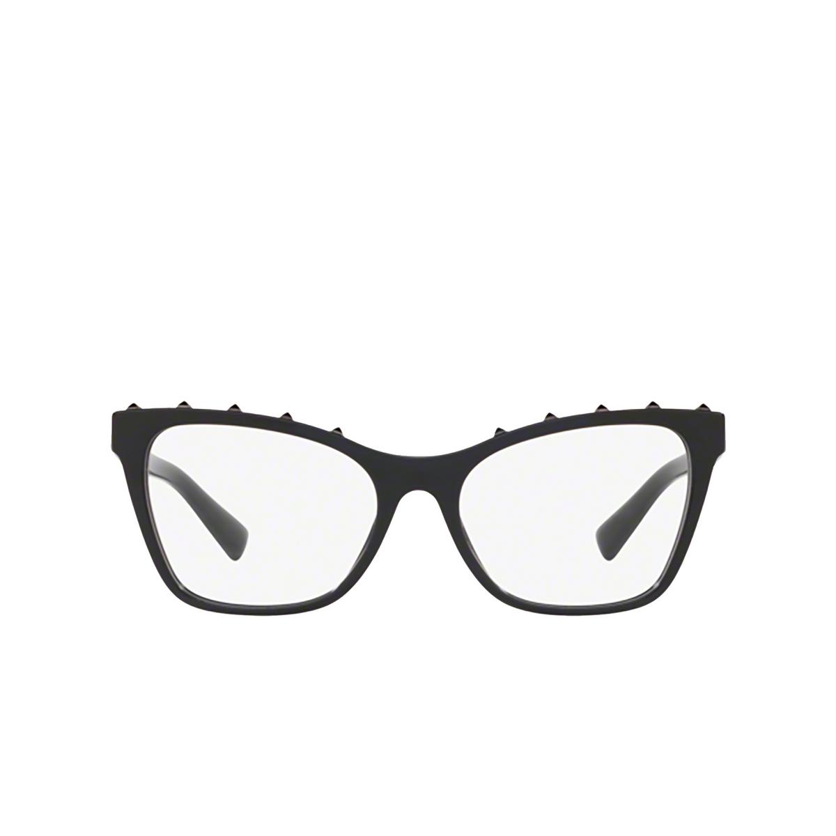 Valentino® Square Eyeglasses: VA3039 color Black 5001 - front view.