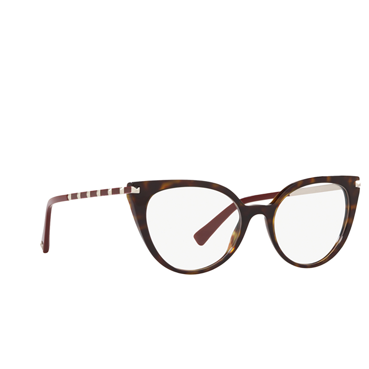 Valentino® Cat-eye Eyeglasses: VA3040 color Havana 5002 - three-quarters view.
