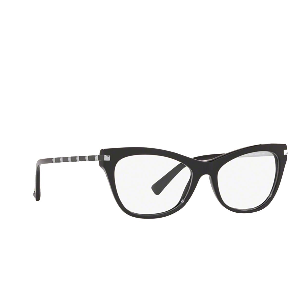 Valentino® Cat-eye Eyeglasses: VA3041 color Black 5001 - three-quarters view.