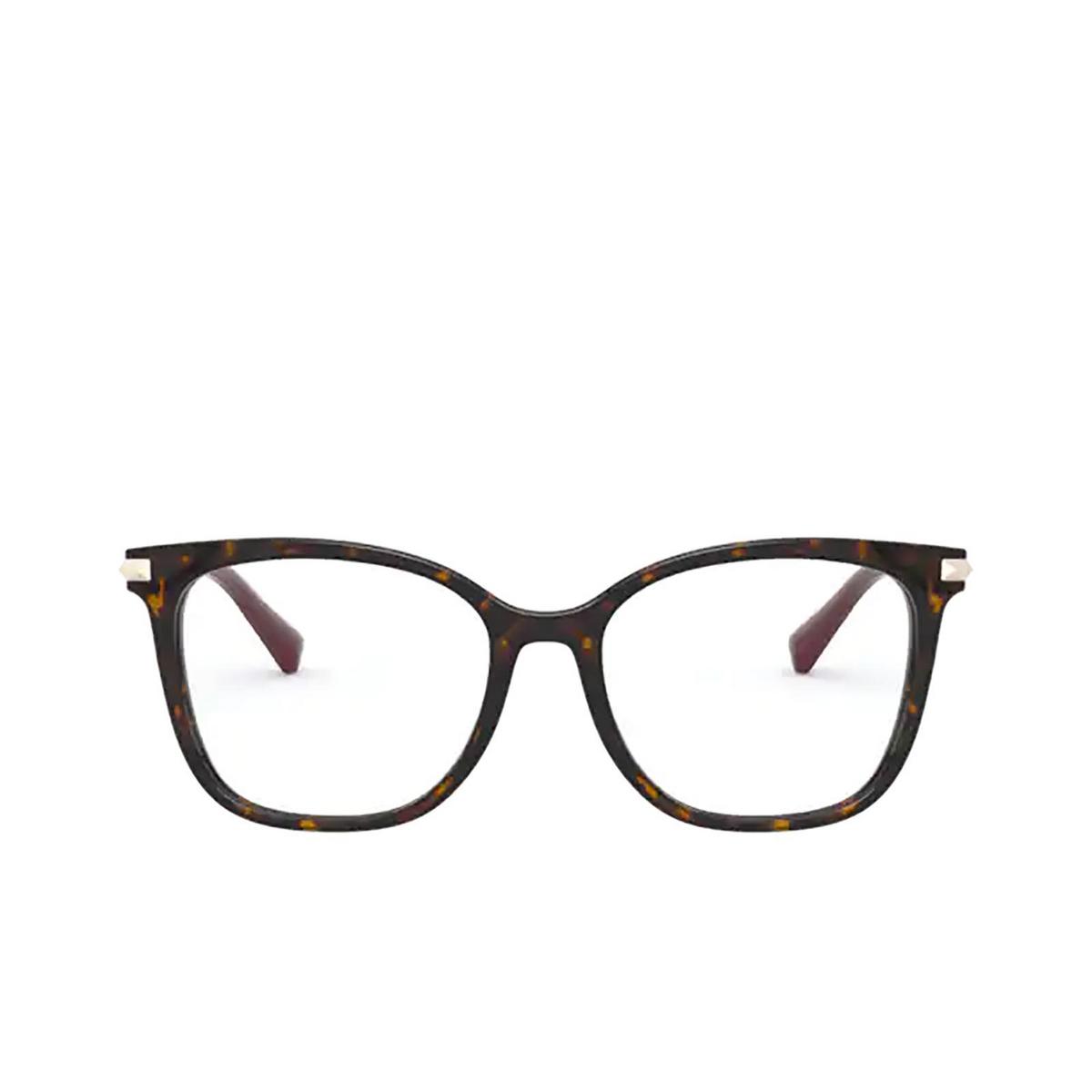 Valentino® Square Eyeglasses: VA3048 color Havana 5002 - front view.