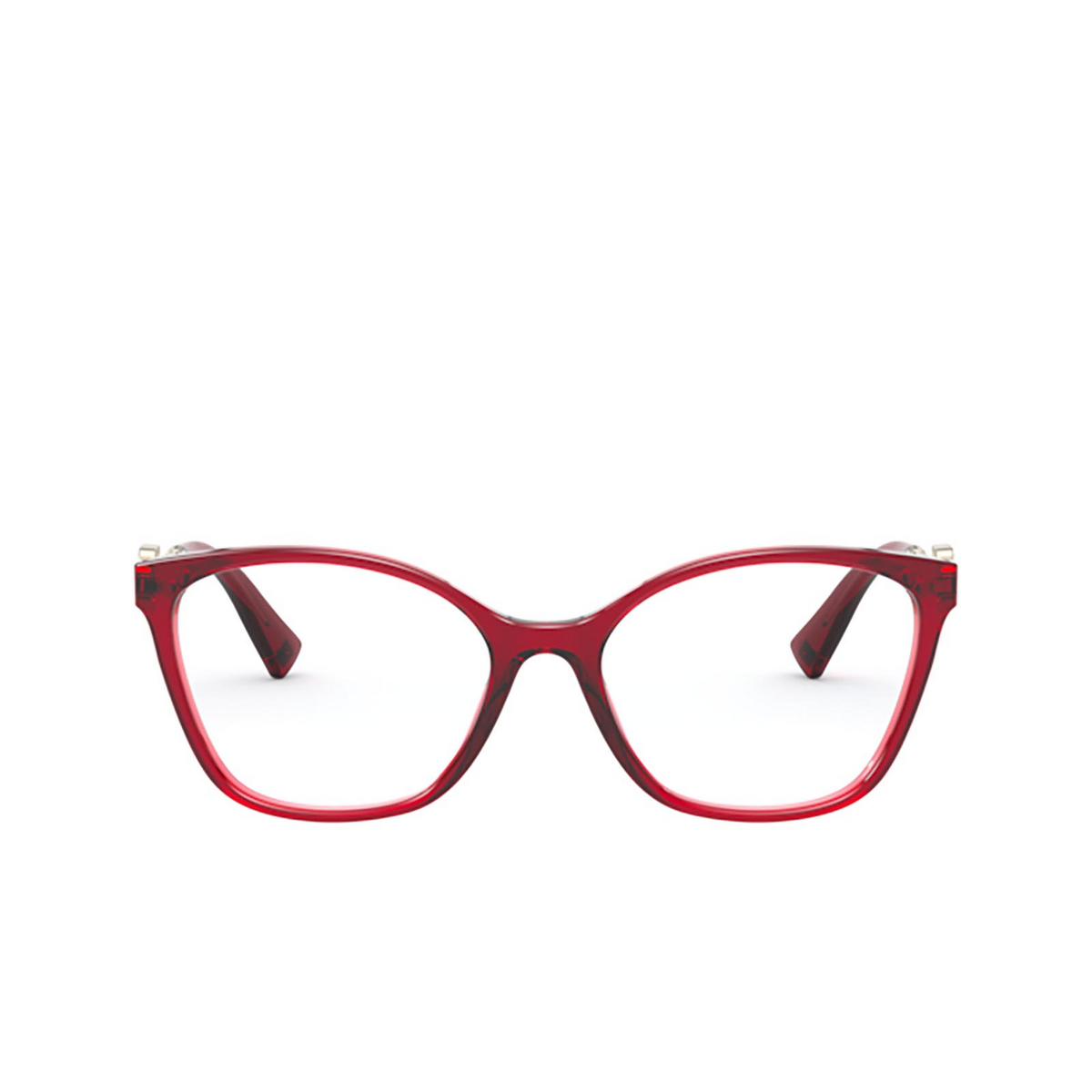 Valentino® Butterfly Eyeglasses: VA3050 color Opal Red 5121 - front view.
