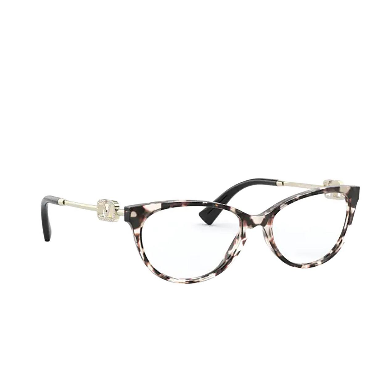 Valentino® Cat-eye Eyeglasses: VA3051 color Brown / Beige Tortoise 5097 - three-quarters view.