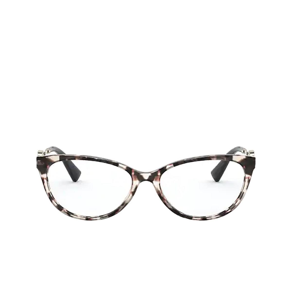 Valentino® Cat-eye Eyeglasses: VA3051 color Brown / Beige Tortoise 5097 - front view.