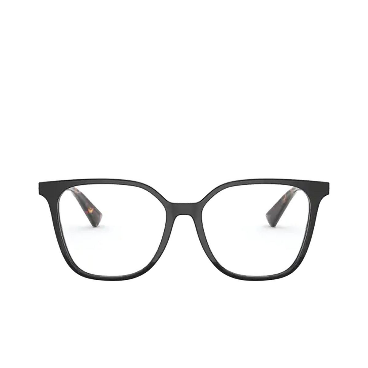 Valentino® Square Eyeglasses: VA3055 color Black 5001 - front view.