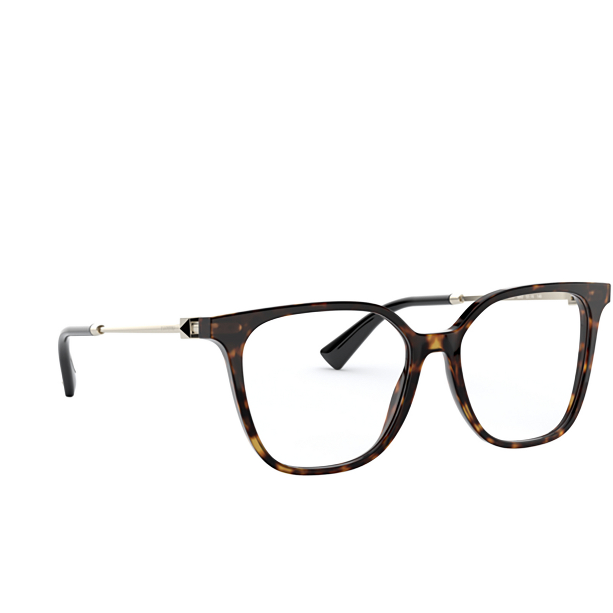 Valentino® Square Eyeglasses: VA3055 color Havana 5002 - three-quarters view.