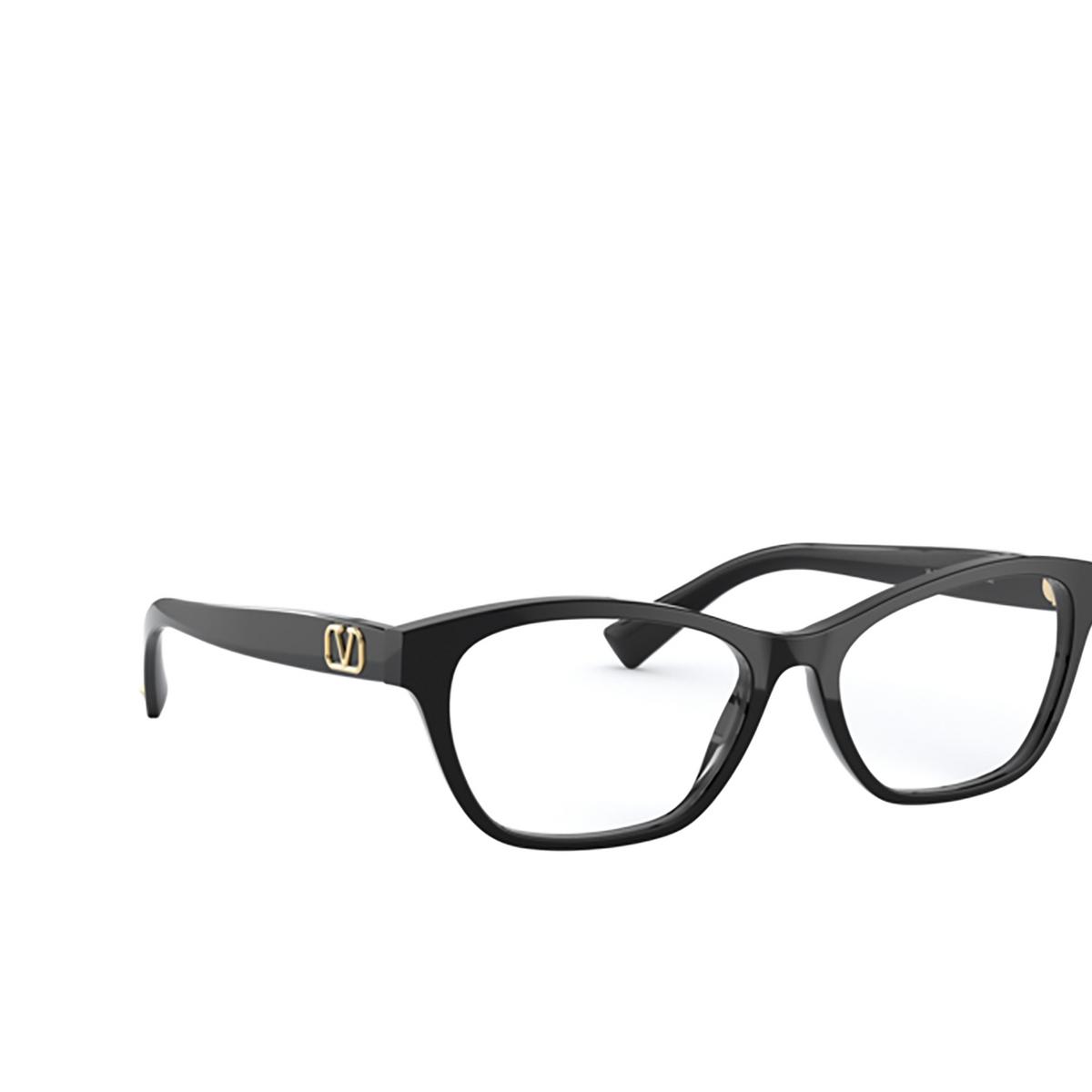 Valentino® Butterfly Eyeglasses: VA3056 color Black 5001 - three-quarters view.