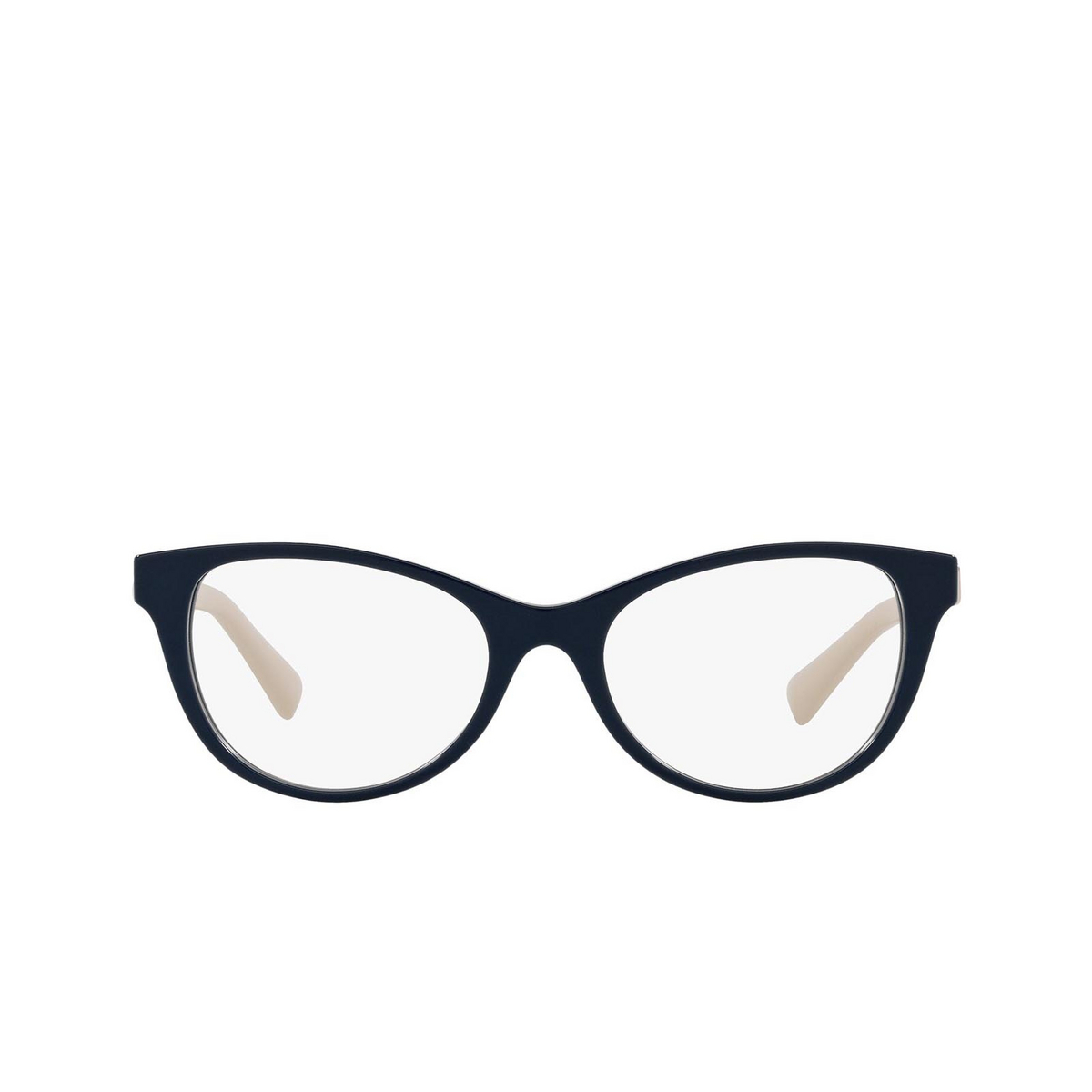 Valentino® Oval Eyeglasses: VA3057 color Blue 5034 - front view.