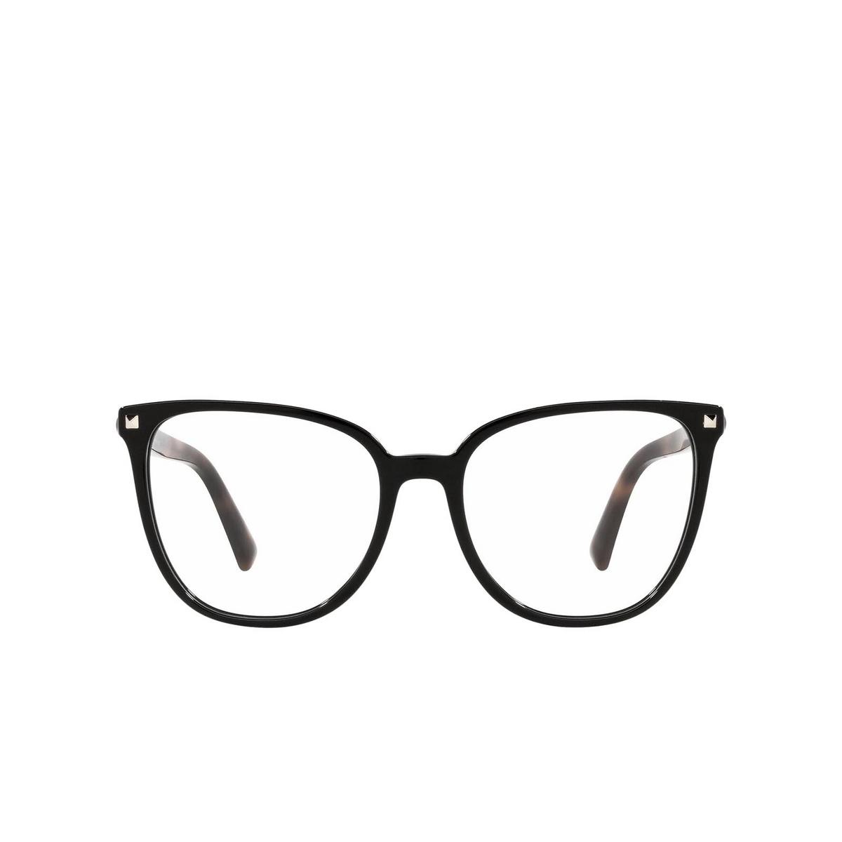 Valentino® Square Eyeglasses: VA3059 color Black 5001 - front view.