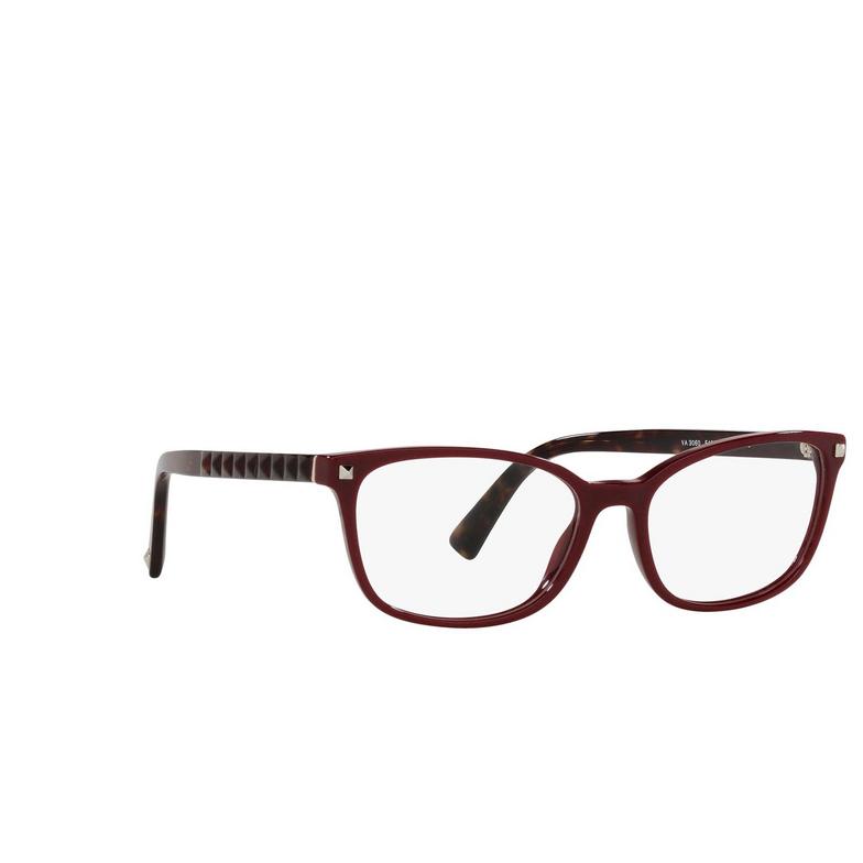 Valentino® Rectangle Eyeglasses: VA3060 color Bordeaux 5139.
