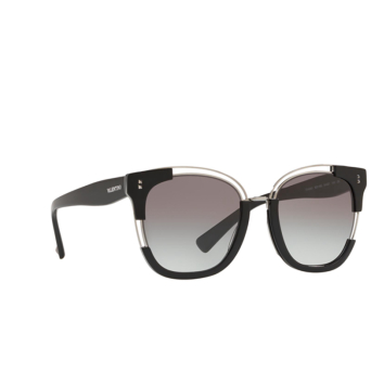 Valentino® Square Sunglasses: VA4042 color Black / Gunmetal 50018G.