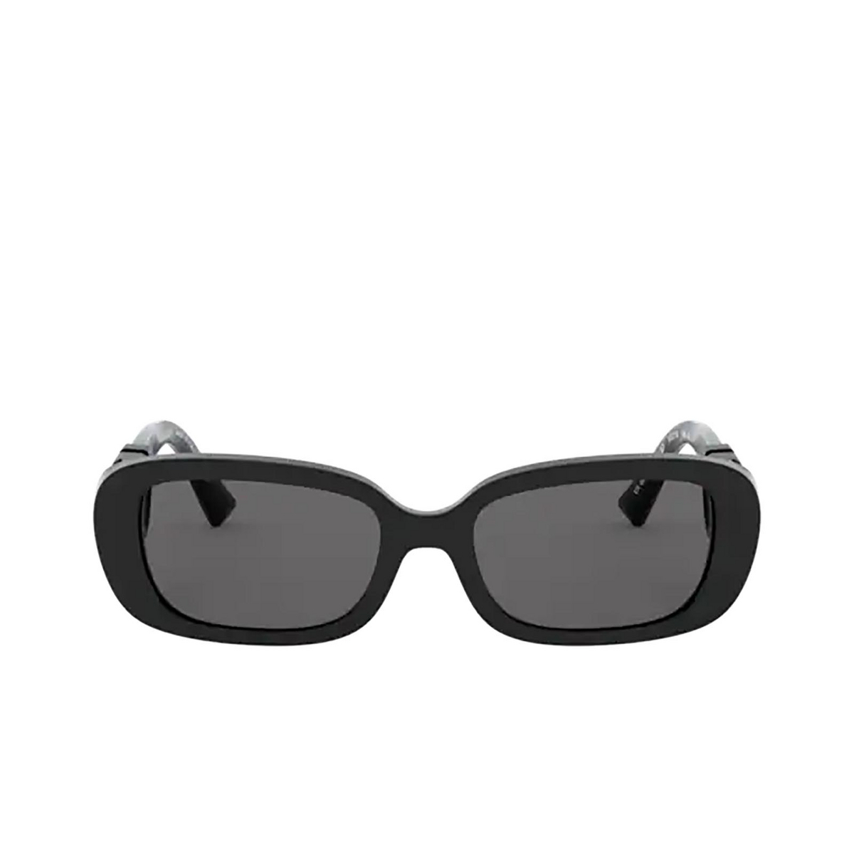 Valentino® Oval Sunglasses: VA4067 color Black 500187 - front view.