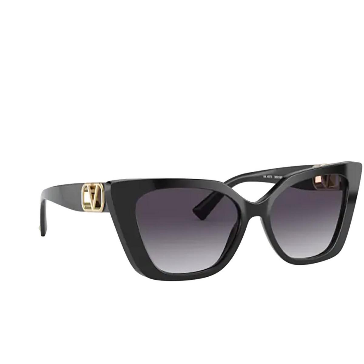 Valentino® Cat-eye Sunglasses: VA4073 color Black 50018G - three-quarters view.