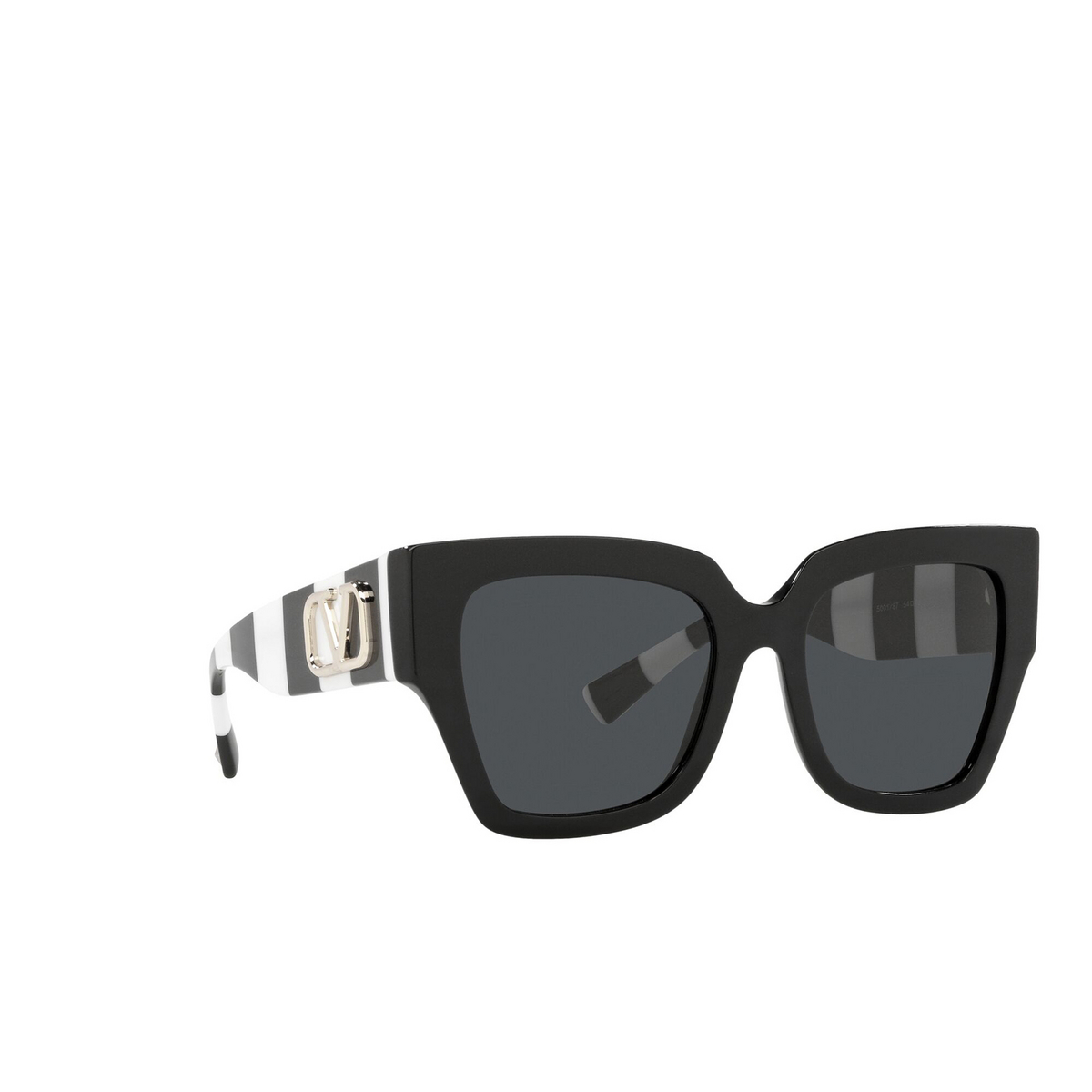 Valentino® Square Sunglasses: VA4082 color Black 500187 - three-quarters view.