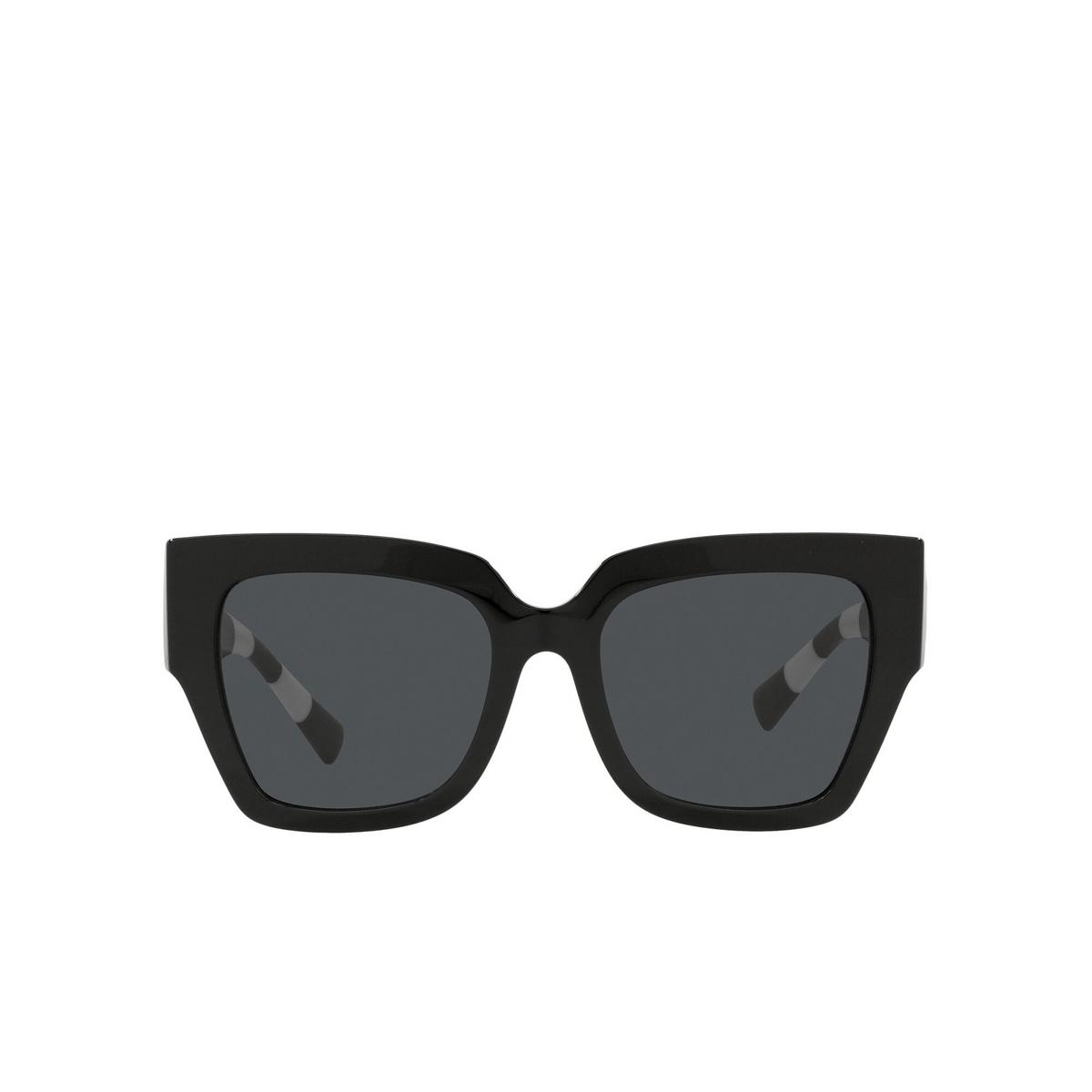 Valentino® Square Sunglasses: VA4082 color Black 500187 - front view.