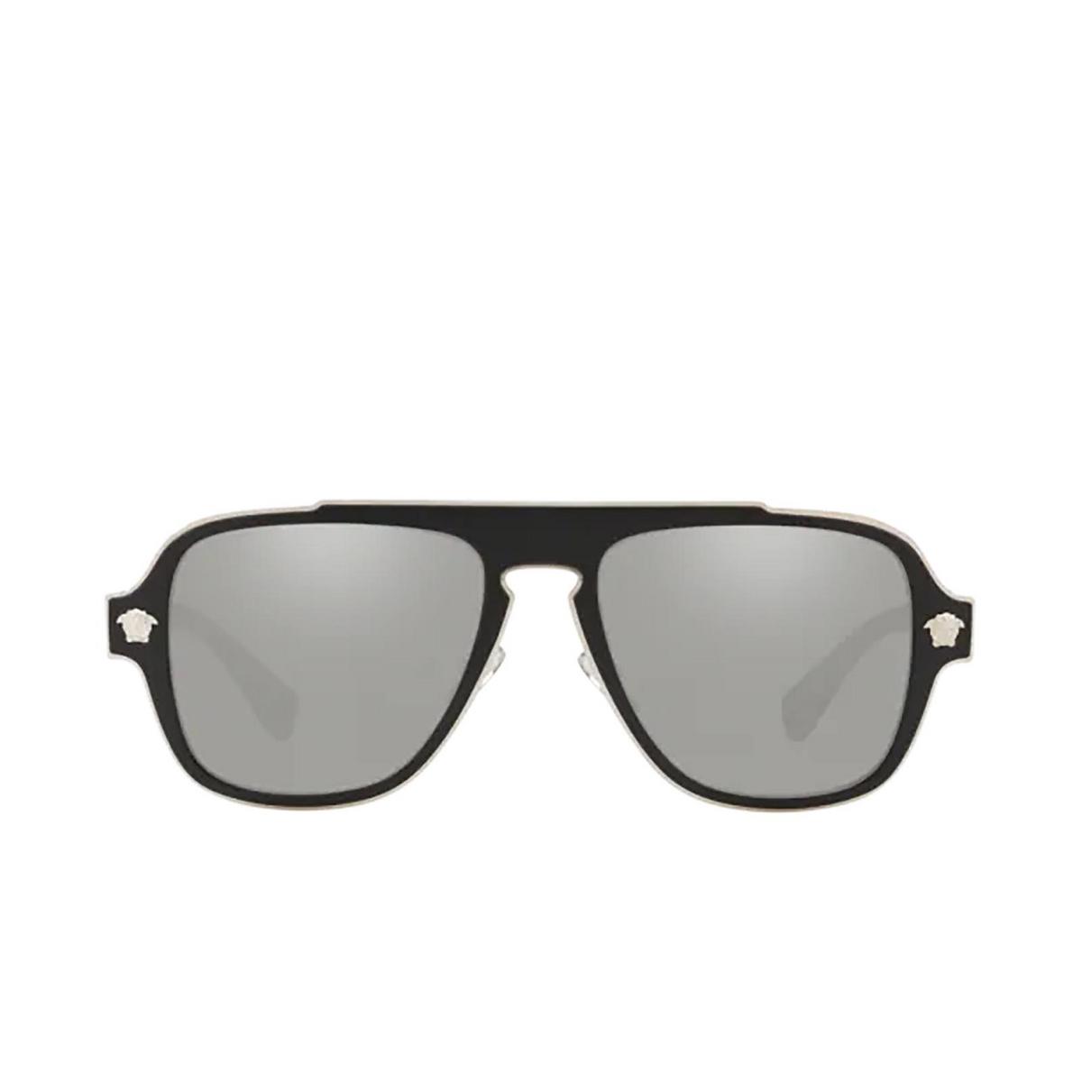 Versace® Aviator Sunglasses: Medusa Charm VE2199 color Matte Black 10006G.