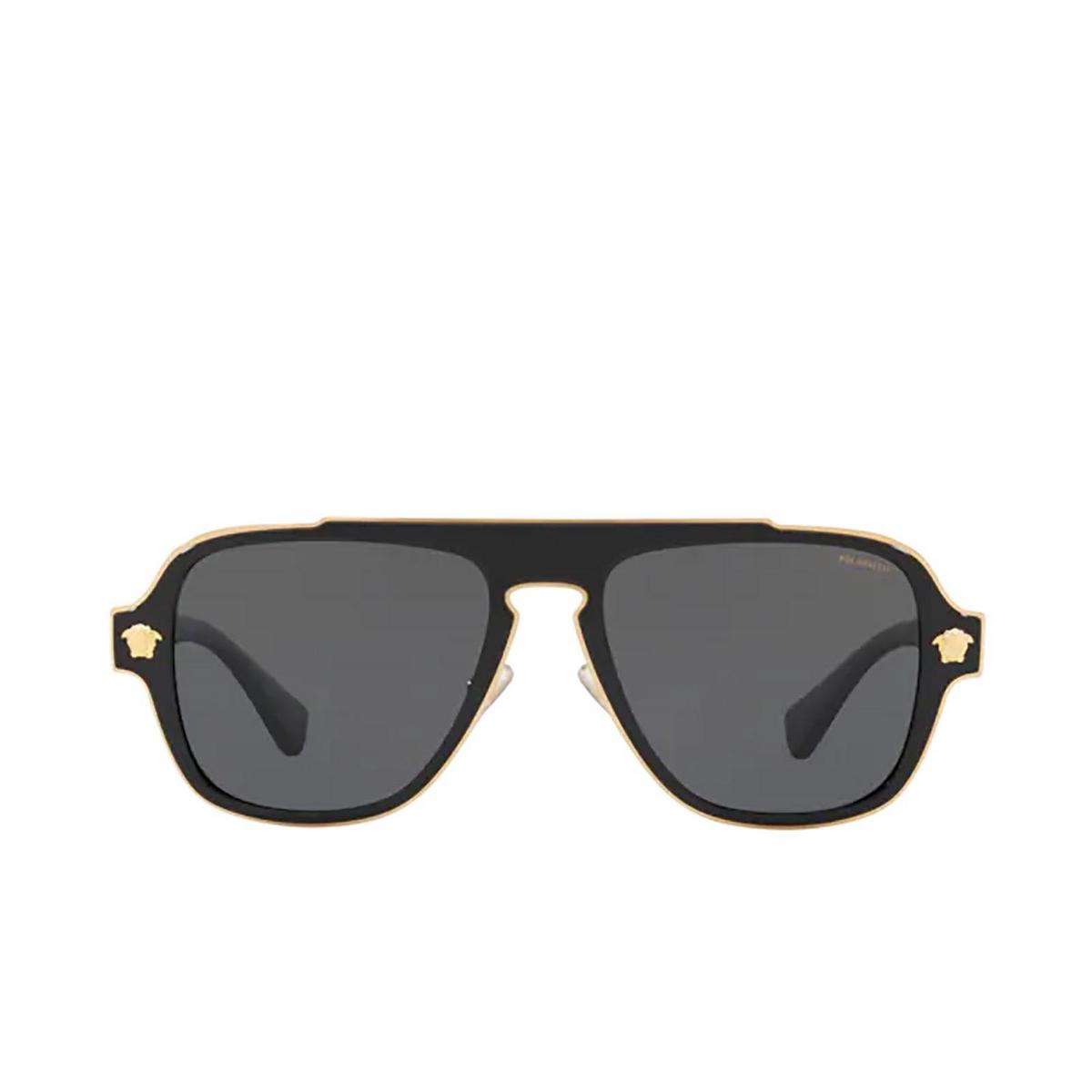 Versace® Aviator Sunglasses: Medusa Charm VE2199 color Black 100281.
