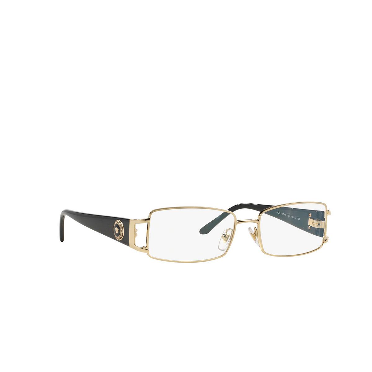 Versace® Rectangle Eyeglasses: VE1163M color Pale Gold 1252 - three-quarters view.