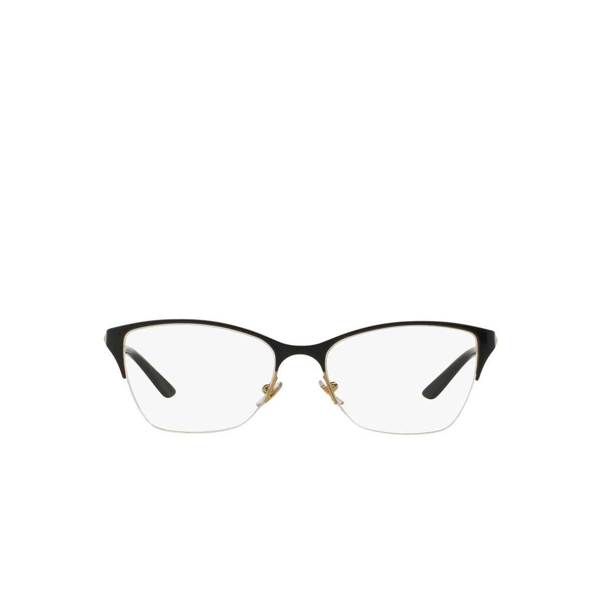 Versace® Cat-eye Eyeglasses: VE1218 color Black / Gold 1342.