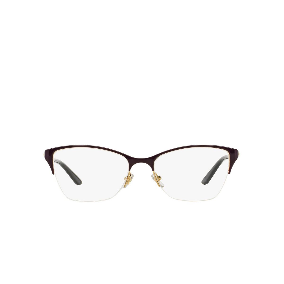 Versace® Cat-eye Eyeglasses: VE1218 color Violet / Gold 1345 - front view.