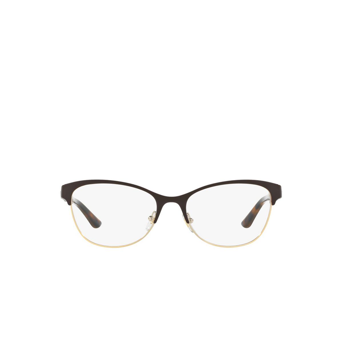 Versace® Cat-eye Eyeglasses: VE1233Q color Brown / Pale Gold 1344.