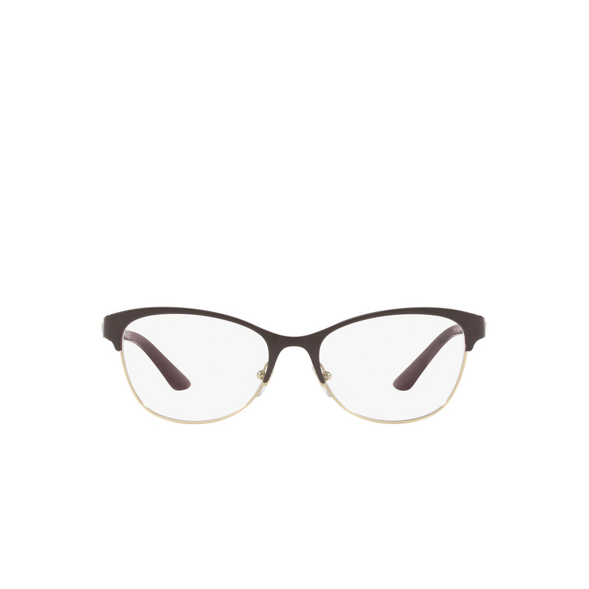 Versace® Cat-eye Eyeglasses: VE1233Q color Violet / Gold 1418 - front view.