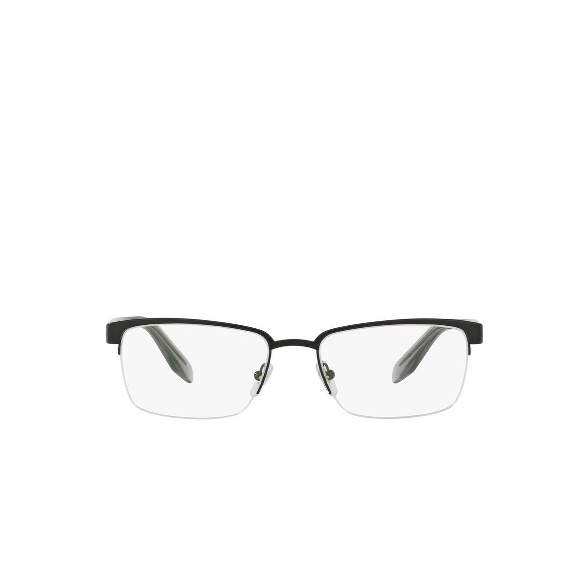Versace® Rectangle Eyeglasses: VE1241 color Matte Black 1261 - front view.