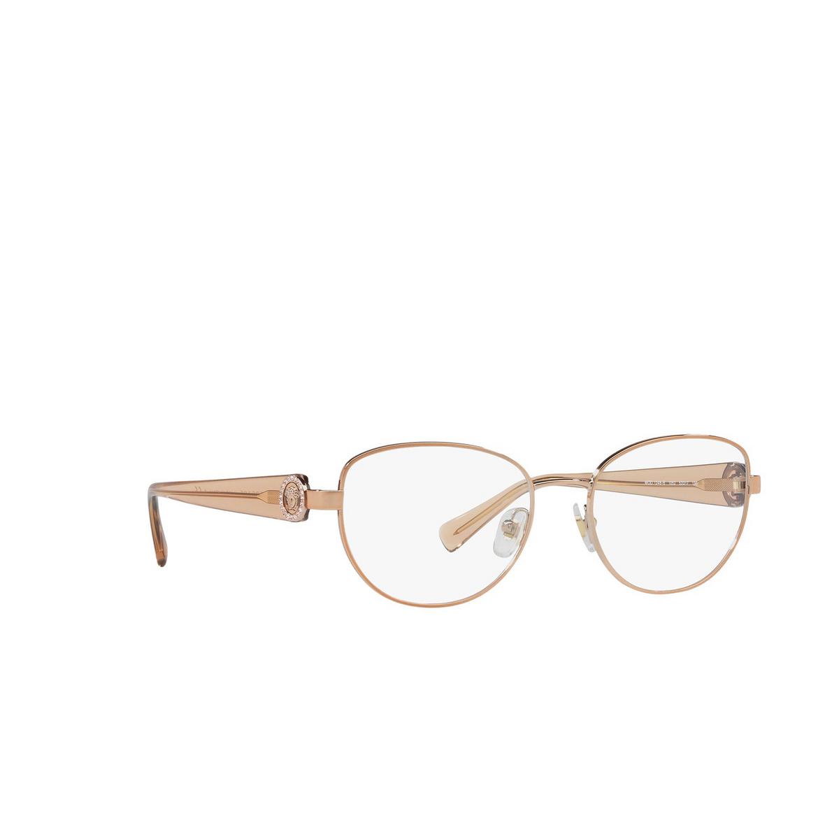Versace® Oval Eyeglasses: VE1246B color Copper 1052 - three-quarters view.