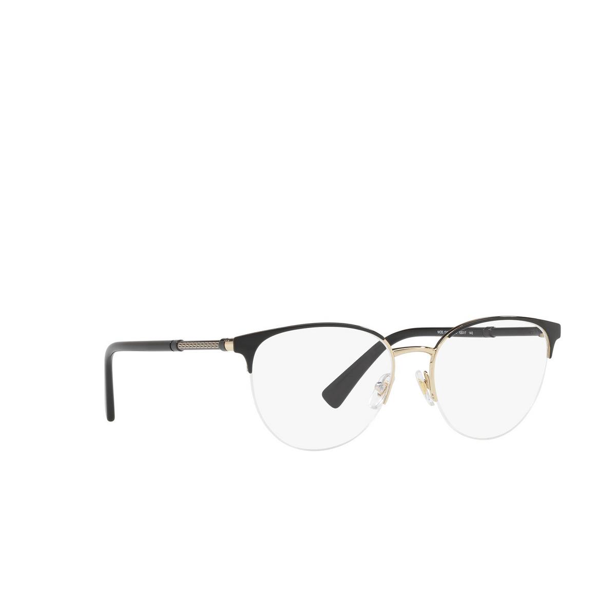 Versace® Round Eyeglasses: VE1247 color Black / Pale Gold 1252.