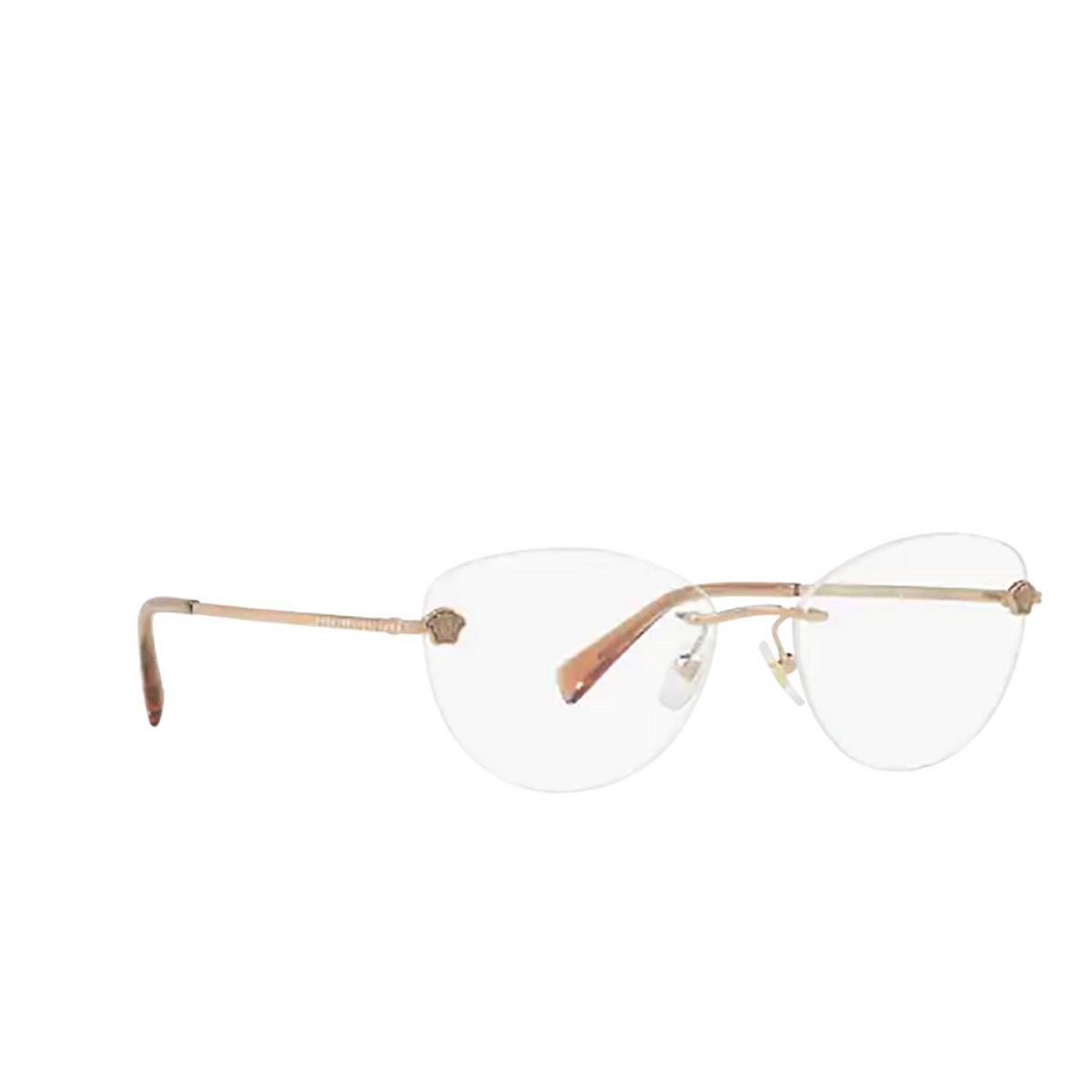 Versace® Oval Eyeglasses: VE1248B color Bronze-copper 1052 - three-quarters view.