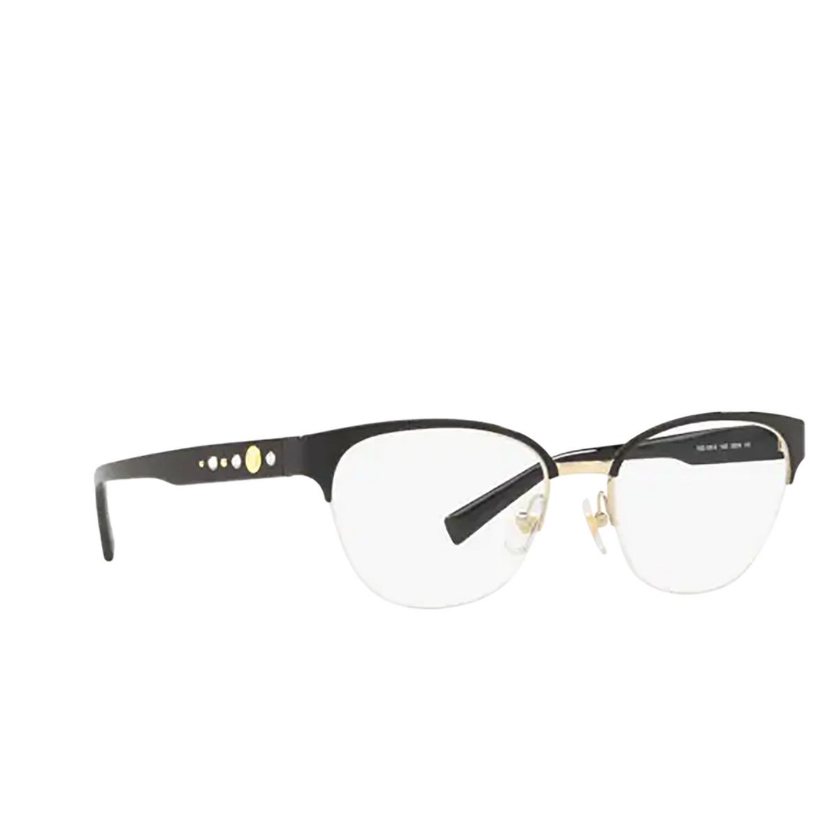 Versace® Butterfly Eyeglasses: VE1255B color Black / Gold 1433.