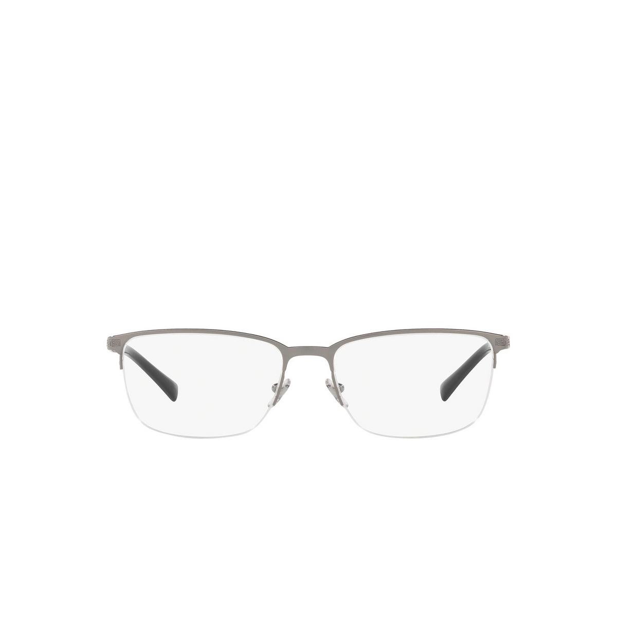 Versace® Rectangle Eyeglasses: VE1263 color Gunmetal 1001.