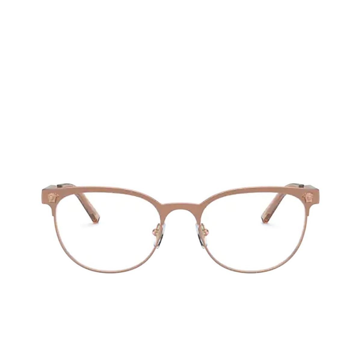 Versace® Oval Eyeglasses: VE1268 color Pink Gold 1412 - front view.
