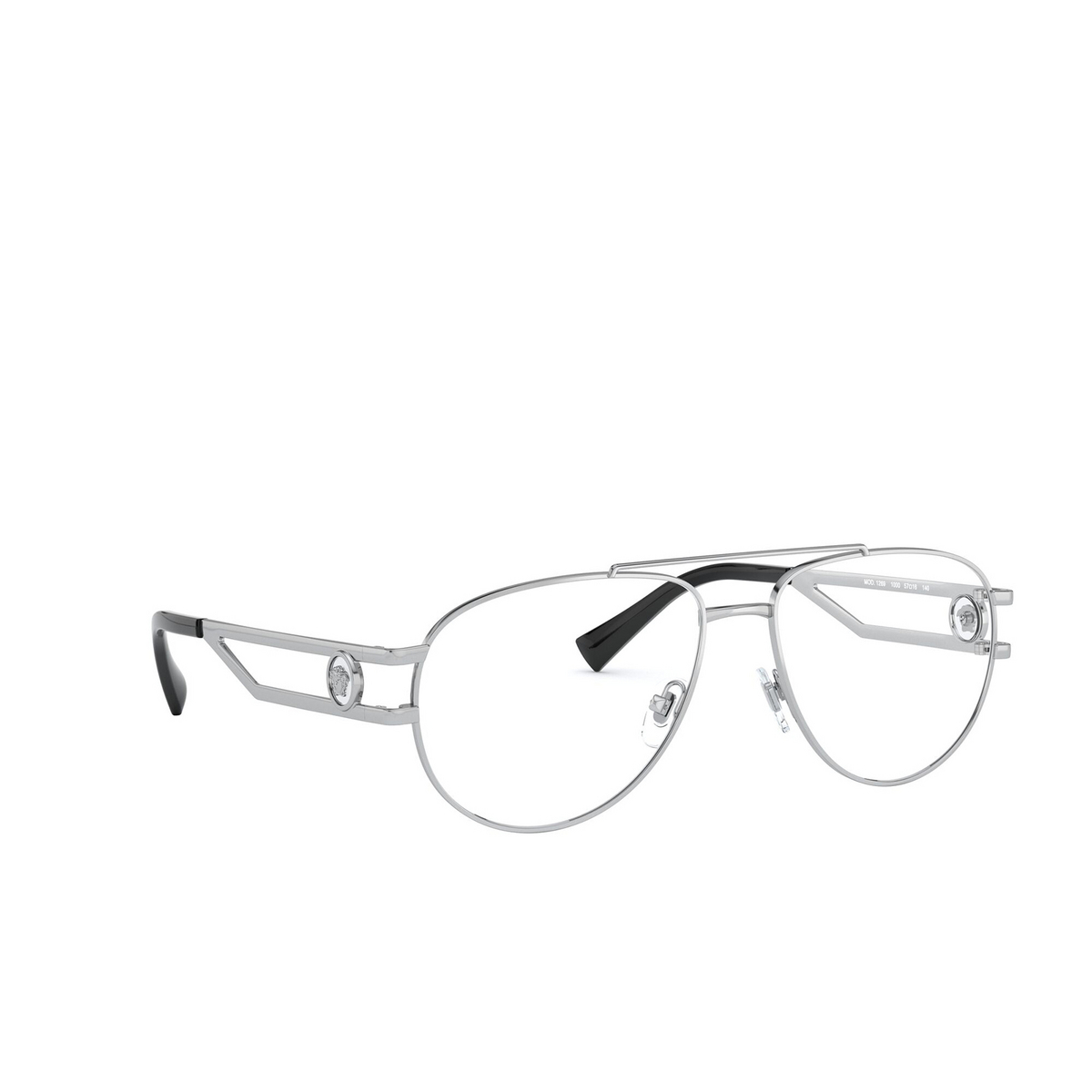 Versace® Aviator Eyeglasses: VE1269 color Silver 1000 - three-quarters view.