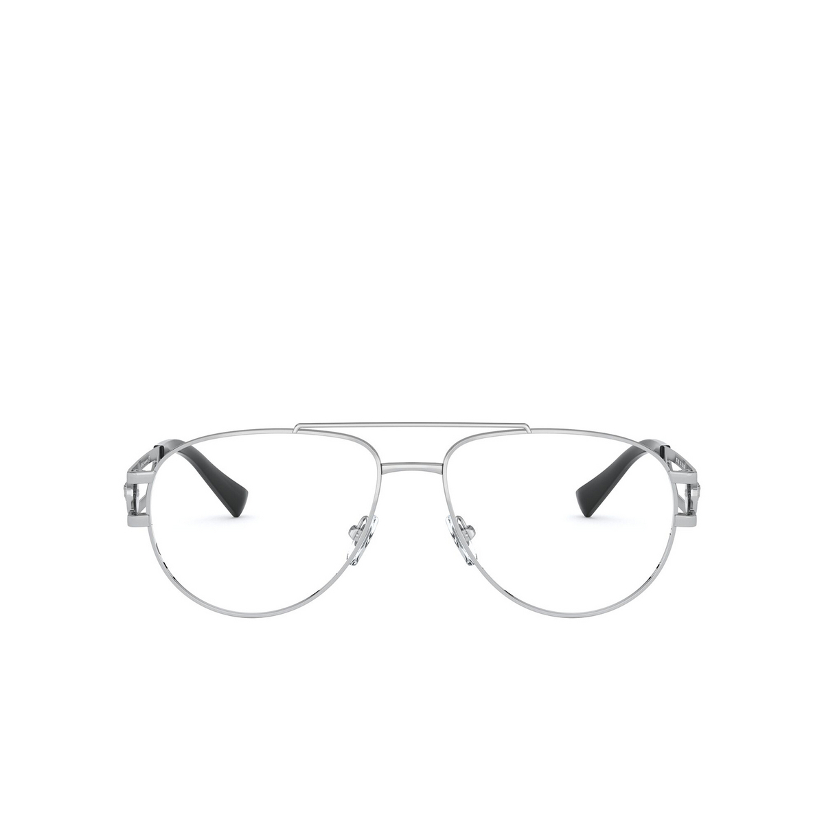Versace® Aviator Eyeglasses: VE1269 color Silver 1000 - front view.