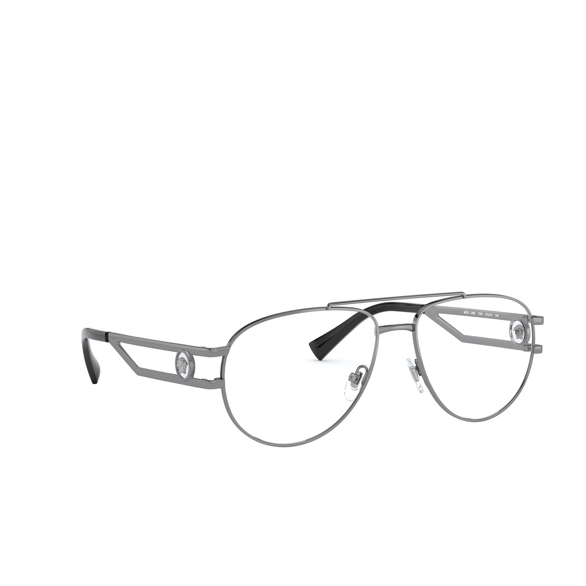 Versace® Aviator Eyeglasses: VE1269 color Gunmetal 1001 - three-quarters view.
