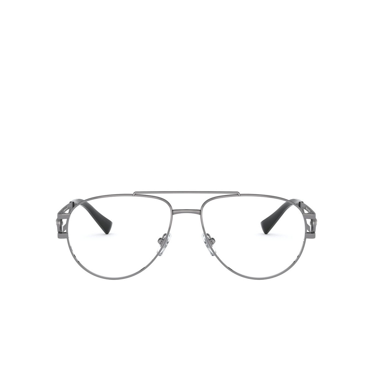 Versace® Aviator Eyeglasses: VE1269 color Gunmetal 1001 - front view.