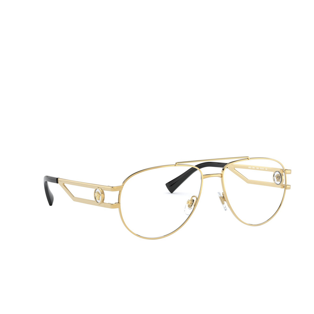 Versace® Aviator Eyeglasses: VE1269 color Gold 1002 - three-quarters view.