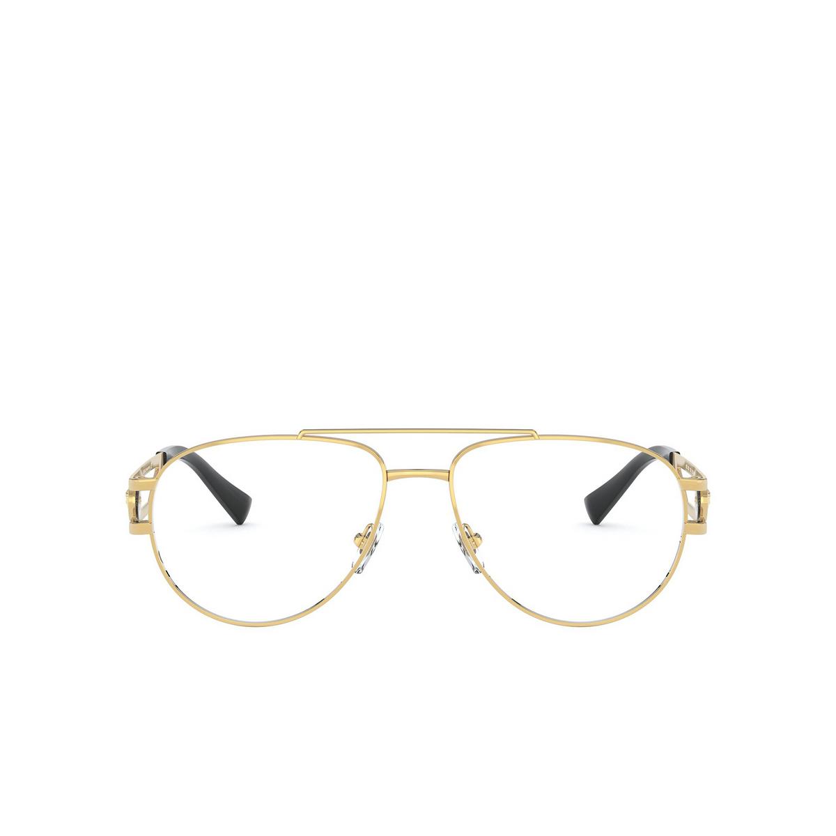 Versace® Aviator Eyeglasses: VE1269 color Gold 1002 - front view.