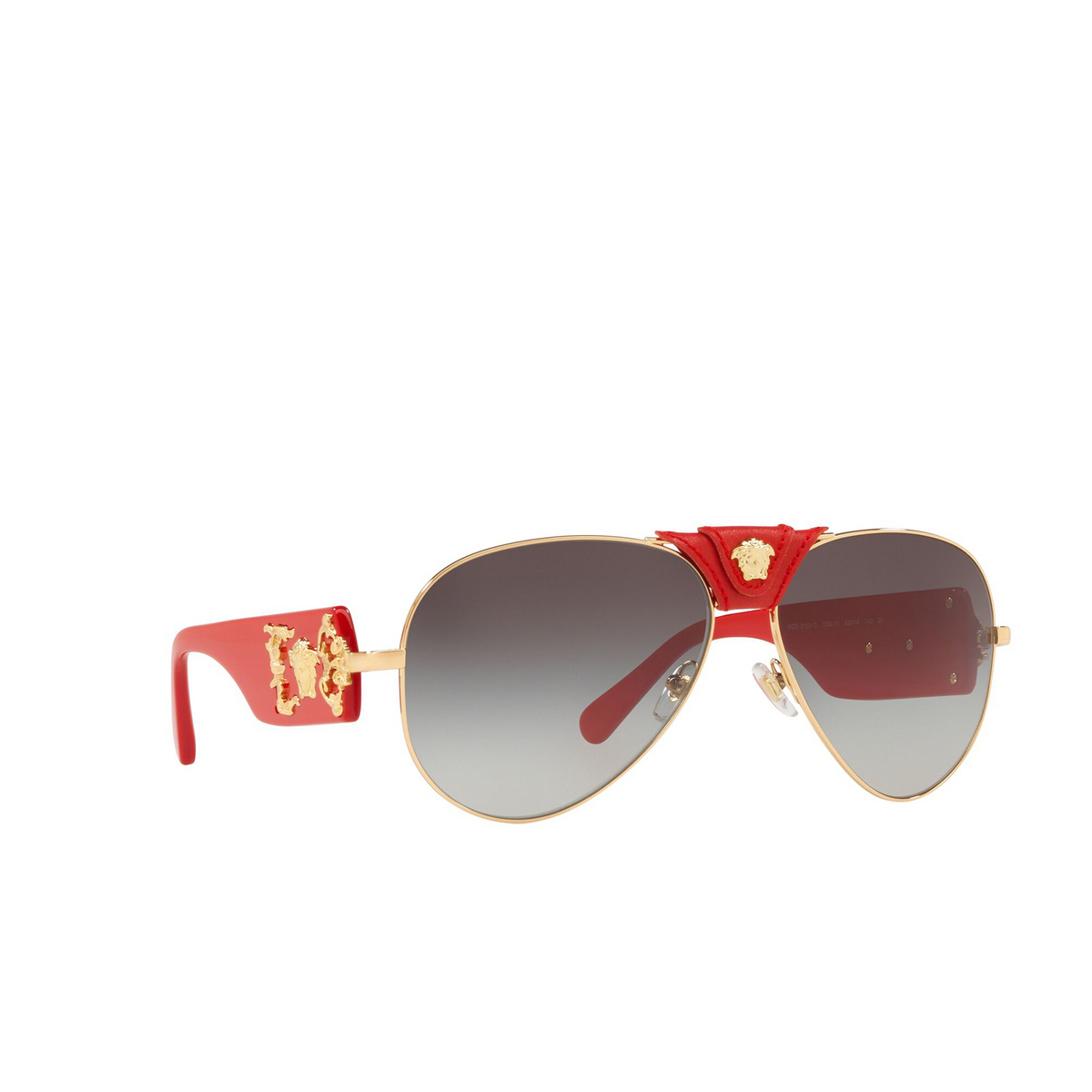 Versace® Aviator Sunglasses: VE2150Q color Gold 100211 - three-quarters view.