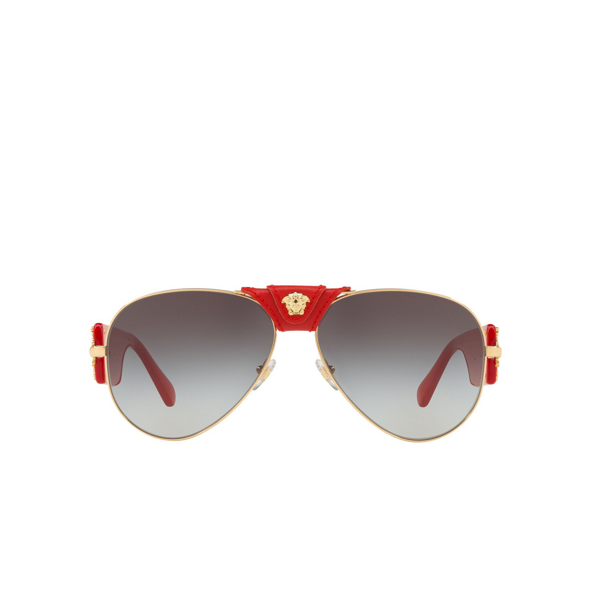 Versace® Aviator Sunglasses: VE2150Q color Gold 100211 - front view.
