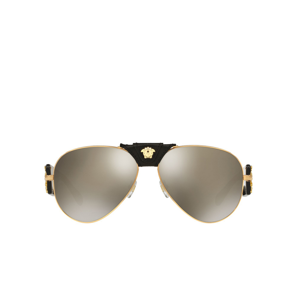 Versace® Aviator Sunglasses: VE2150Q color Gold 10025A - front view.