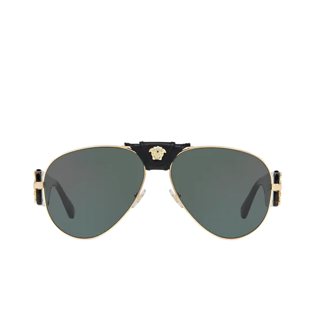 Versace® Aviator Sunglasses: VE2150Q color Gold 100271 - front view.