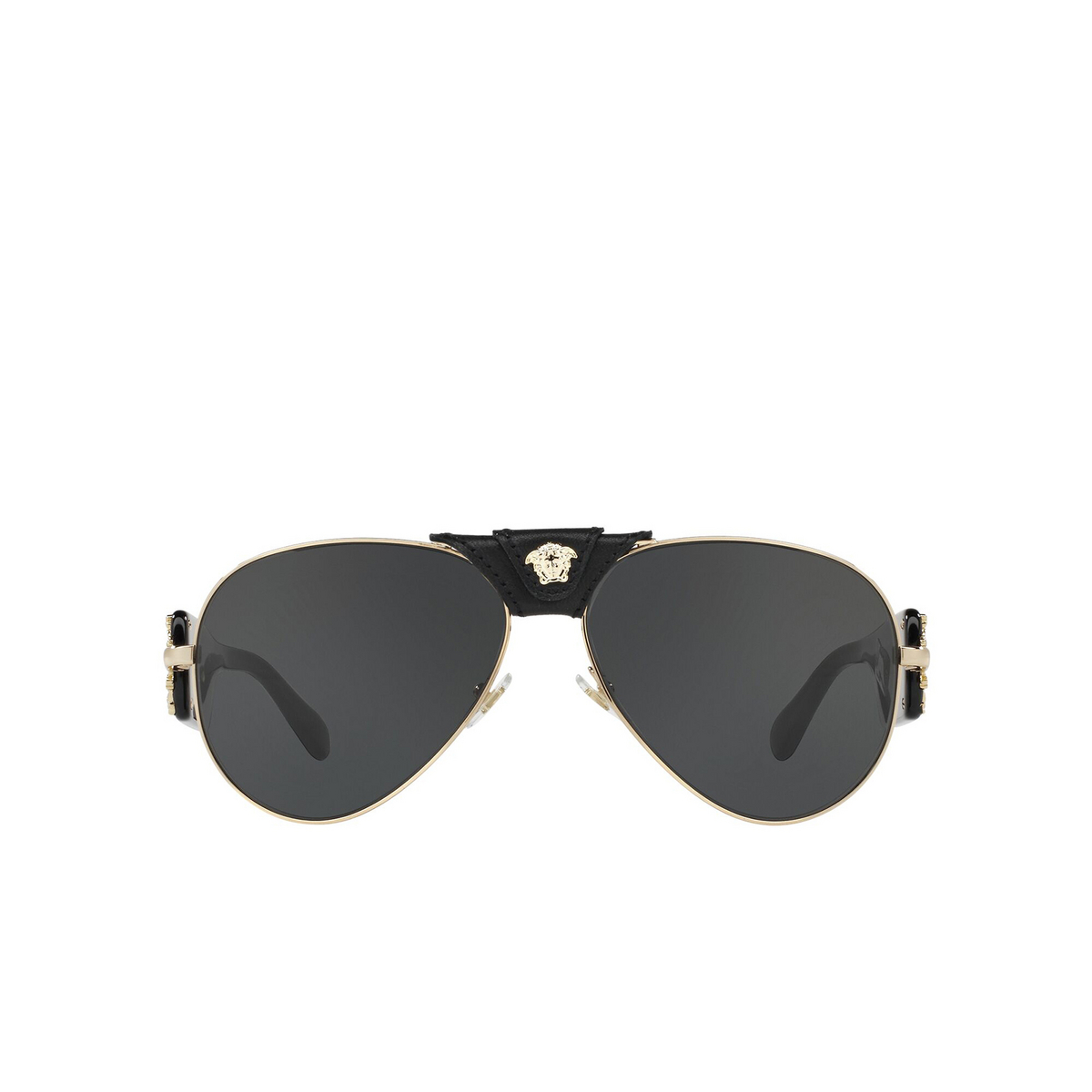 Versace® Aviator Sunglasses: VE2150Q color Gold 100287 - front view.