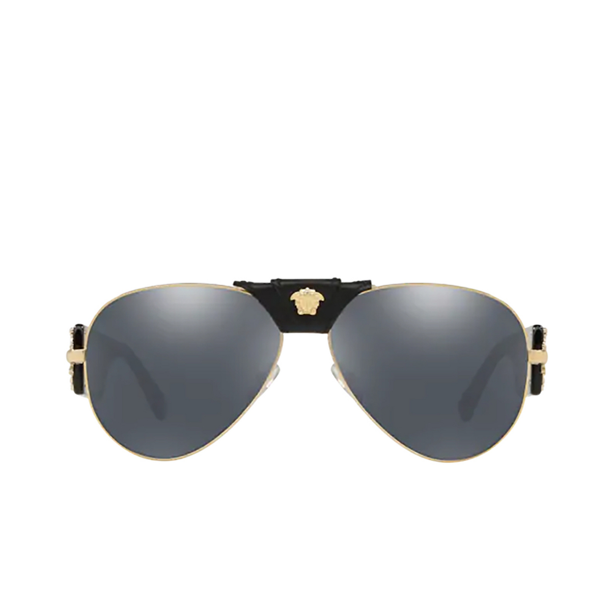 Versace® Aviator Sunglasses: VE2150Q color Pale Gold 12526G - front view.