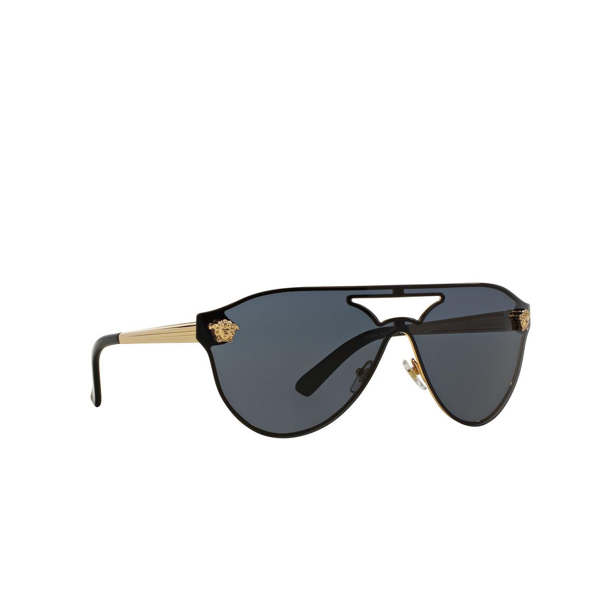 Versace® Aviator Sunglasses: VE2161 color Gold 100287 - three-quarters view.