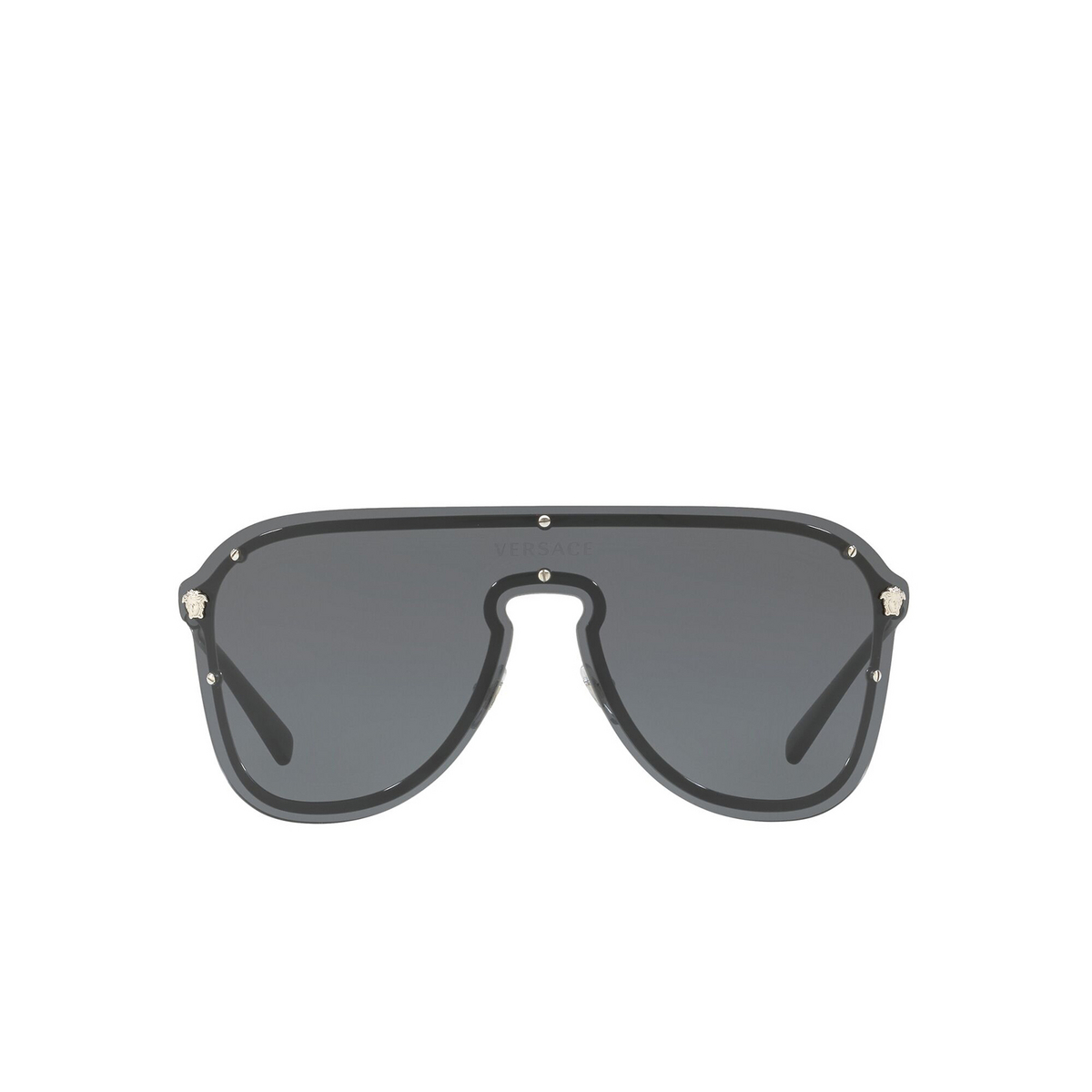 Versace® Aviator Sunglasses: VE2180 color Silver 100087 - front view.